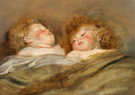 Rubens, Peter Paul: Two Sleeping Children. Fine Art Print/Poster. Sizes: A1/A2/A3/A4 (002128)